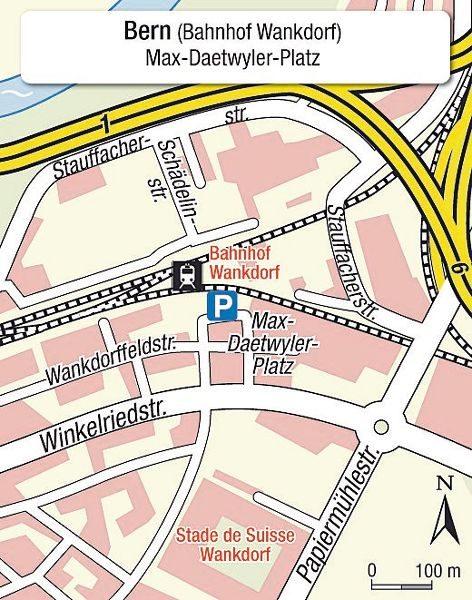 Karte Einsteigeort Bern Wankdorf