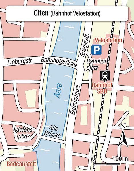 Karte Einsteigeort Olten