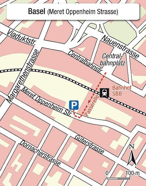 Karte Einsteigeort Basel