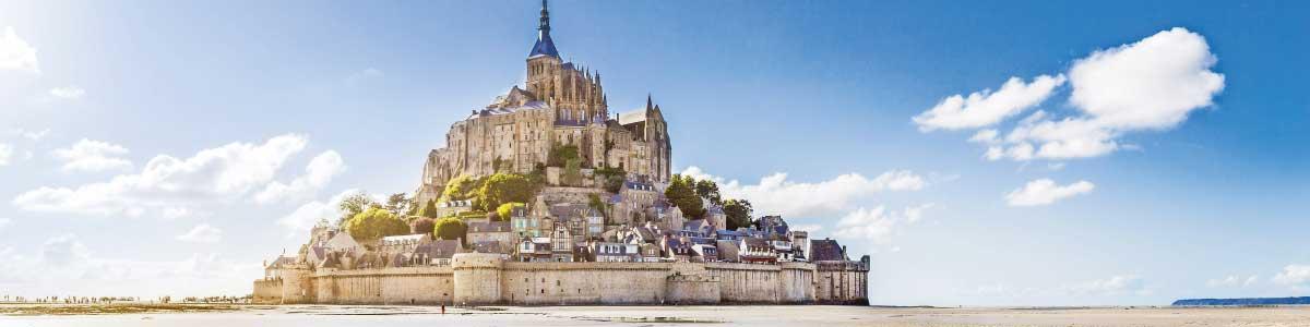 Circuits à Mont-St-Michel en France