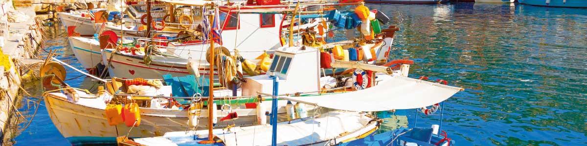 Bateaux à Grèce