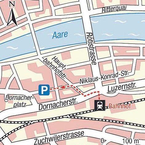 Karte Einsteigeort Solothurn