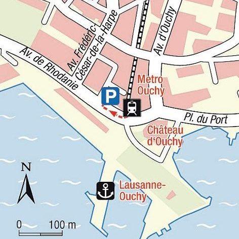 Karte Einsteigeort_lieu de départ Lausanne