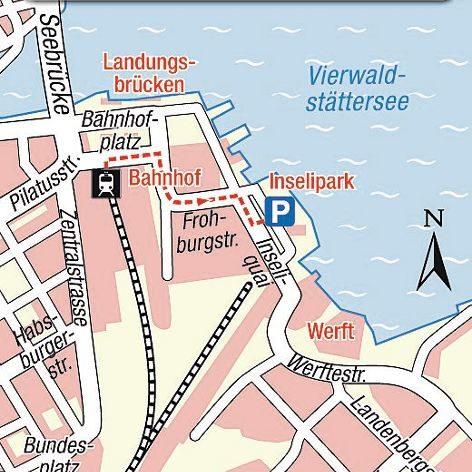 Karte Einsteigeort Luzern