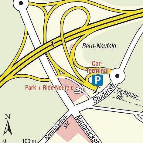 Karte Einsteigeort Bern Neufeld